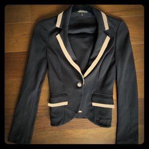 Express Black Blazer Jacket with White Contrast